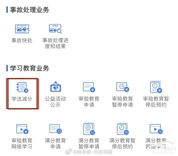 北京交管局推学法规减违法行为扣分举措